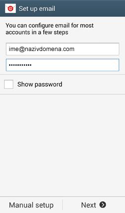 Podešavanje maila na Samsung Android uredjajima